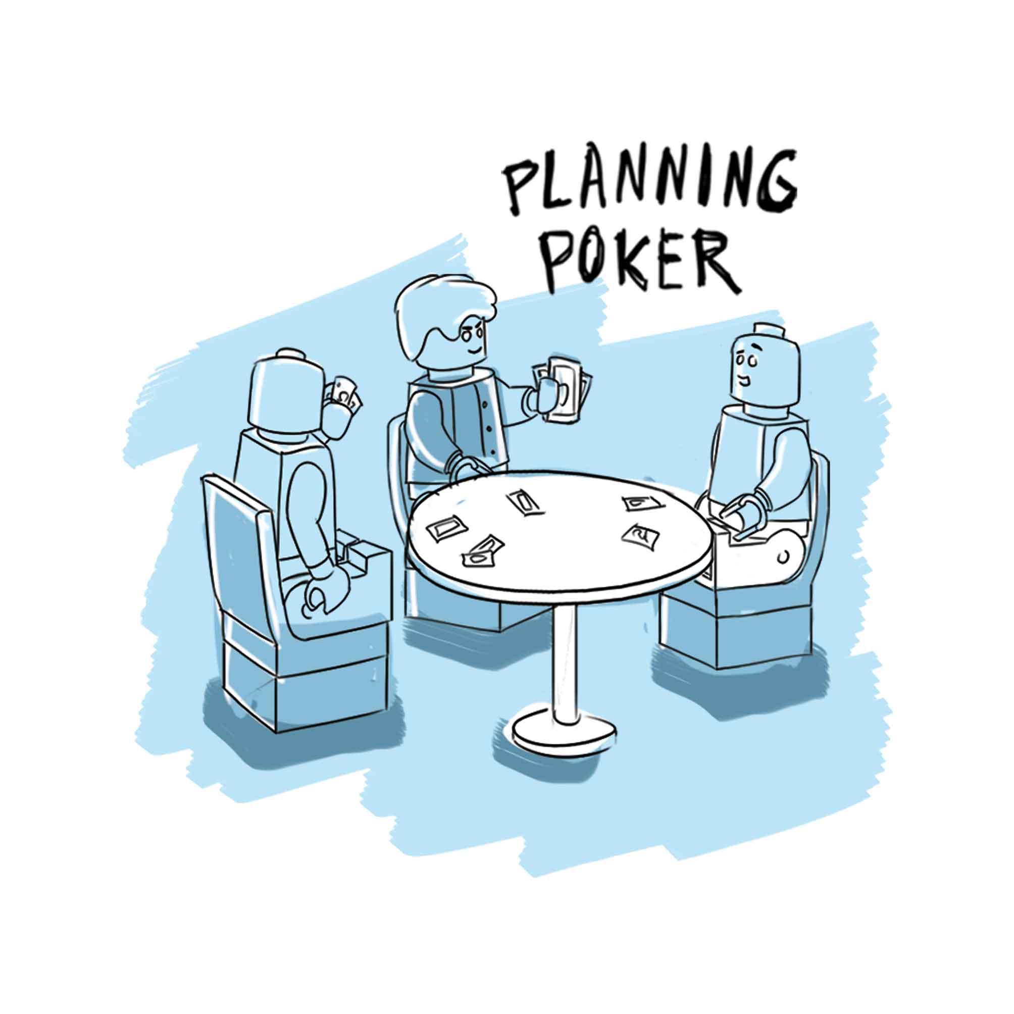 Planning Poker Zeichnung