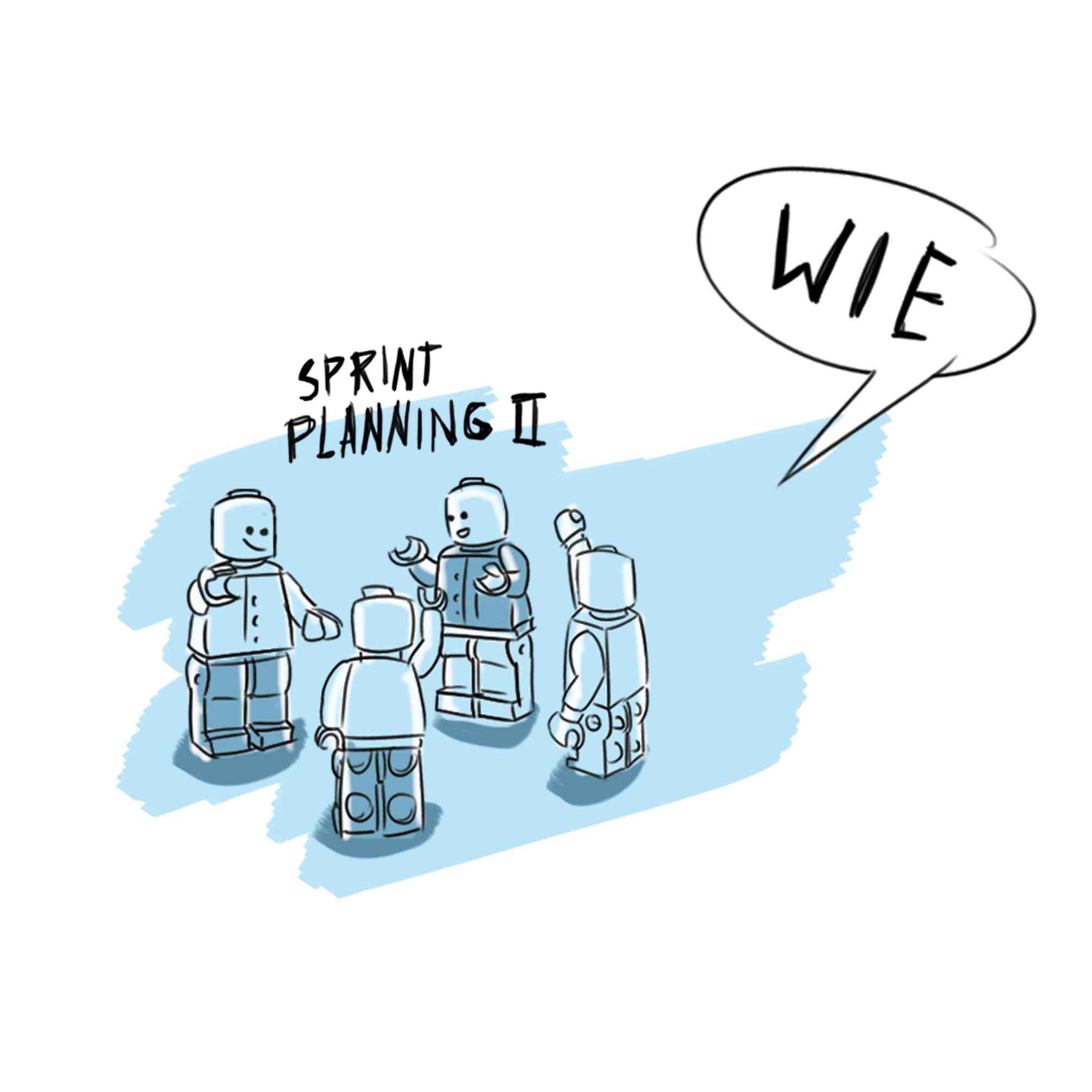 Scrum Planning Zeichnung