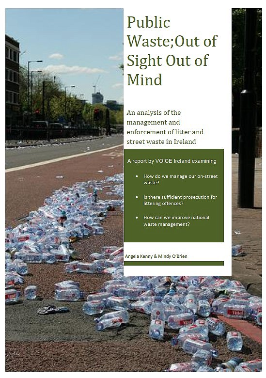 VOICE Publishes 'Public Waste; Out of Sight, Out of Mind' Litter and Public Waste Report