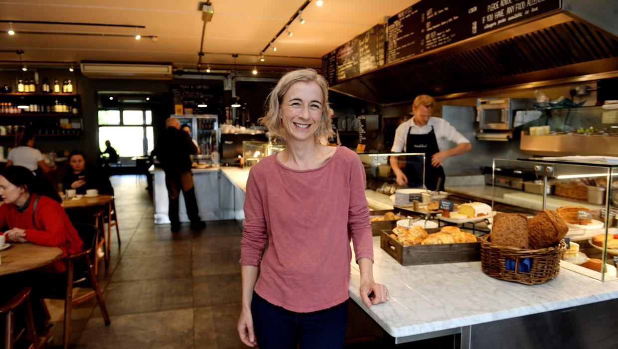 Local entrepreneur and activist Angela Ruttledge spells it out