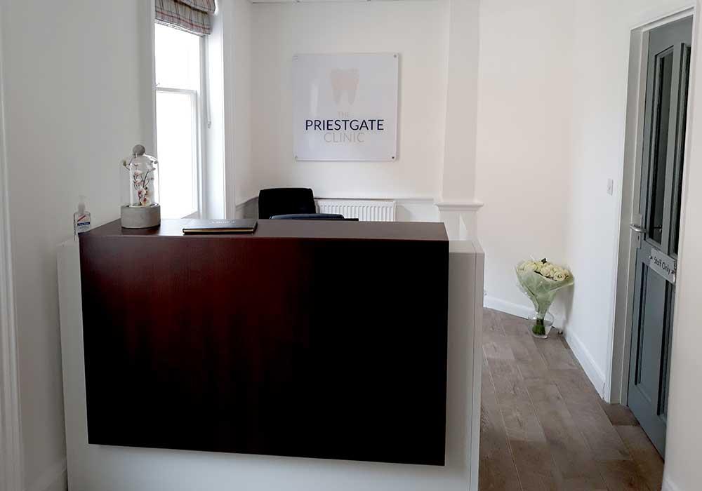 Priestgate Clinic Peterborough reception
