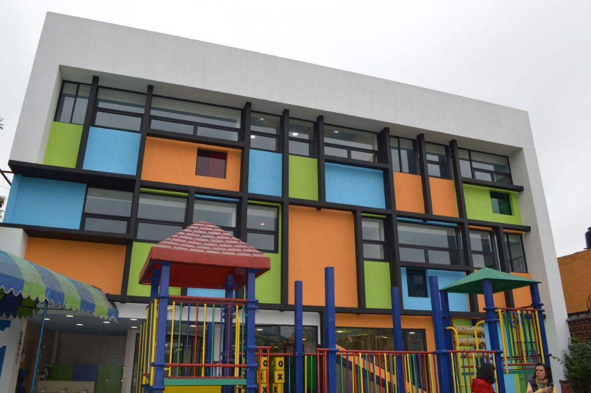 Edificio de preescolar Academia Maddox.