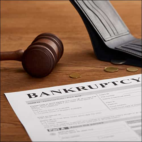 Bankruptcy Letter with Gavel