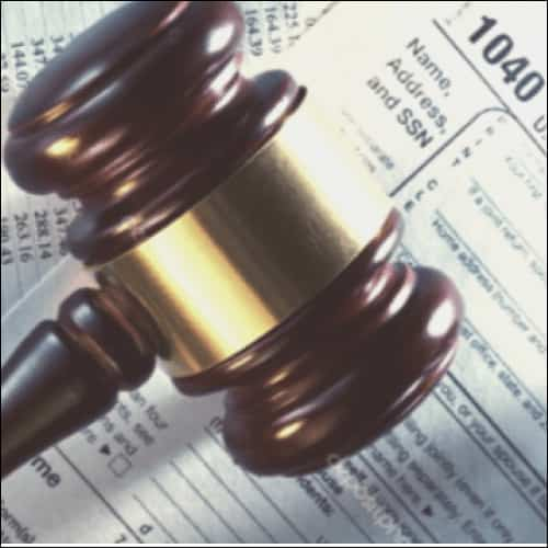 Gavel on Tax Forms