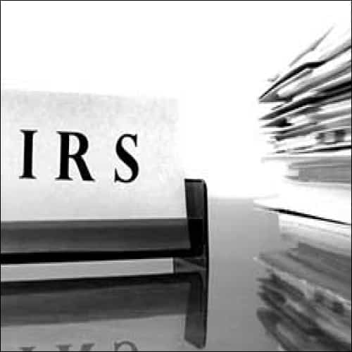 IRS Sign with Files
