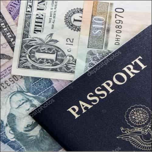 Passport with Cash