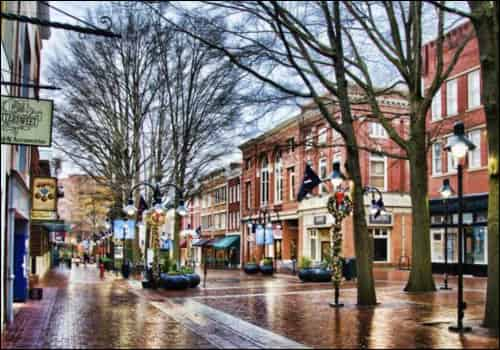 Image of downtown Charlottesville