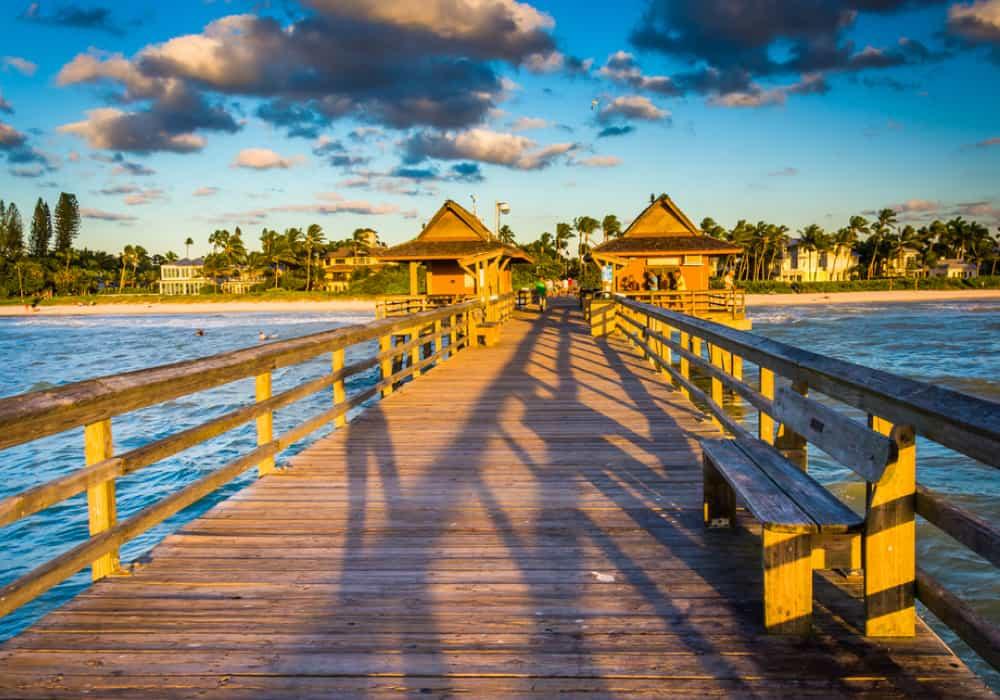 Colorful Naples, Florida, USA town
