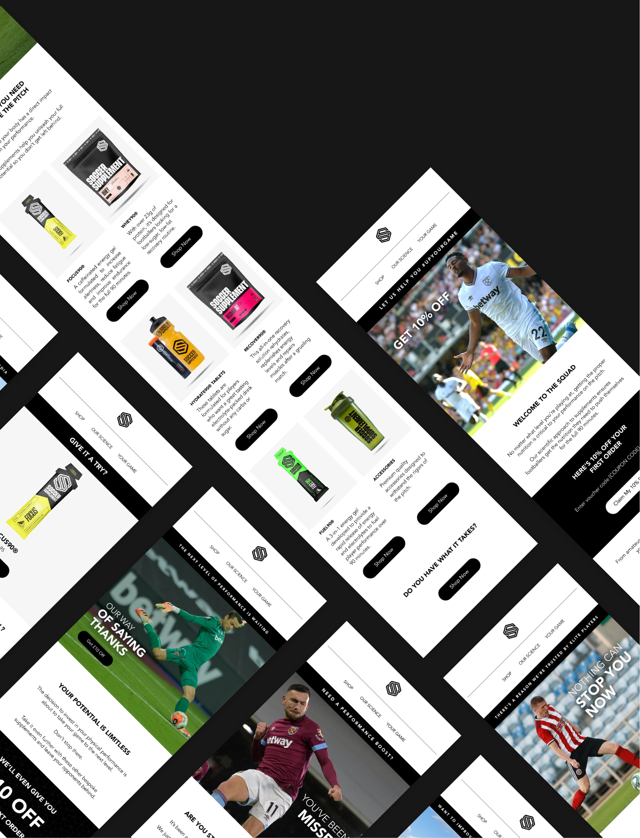 Design screens