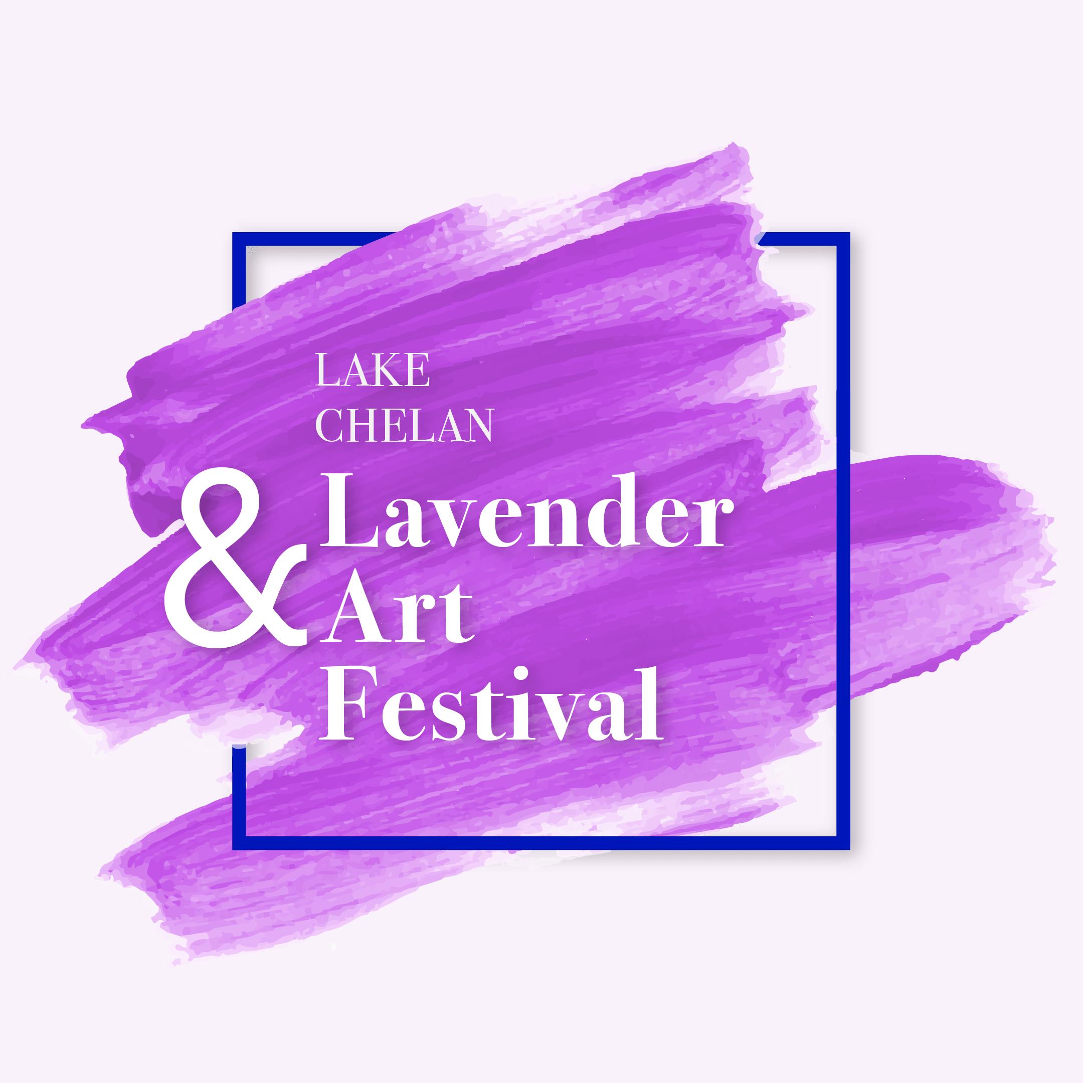 Lake Chelan Lavender & Art Fest Logo - Window