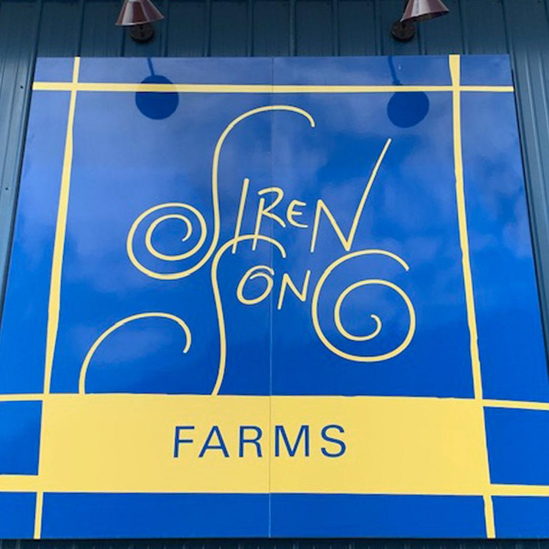 Siren Song Farms sign
