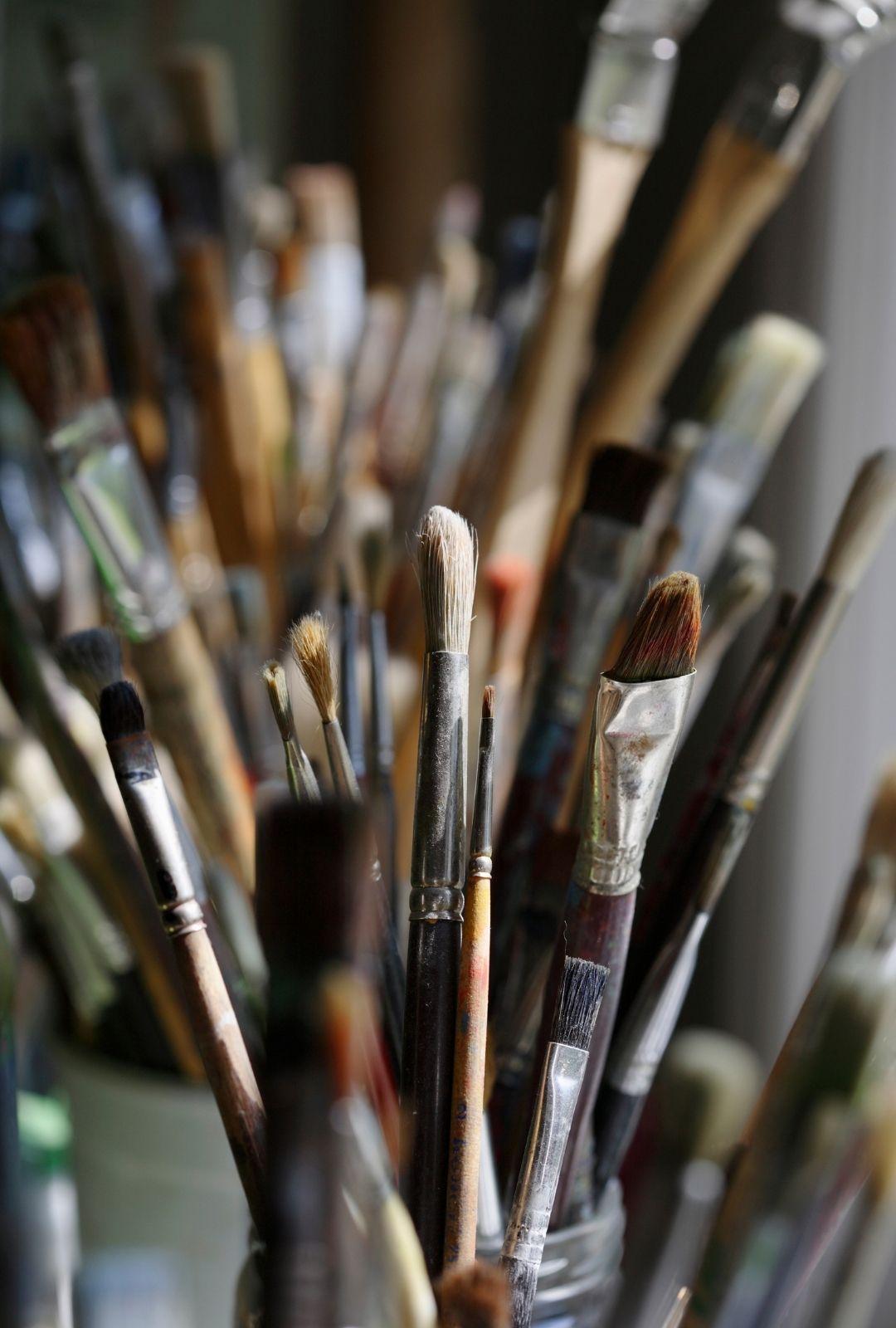 Brushes close up