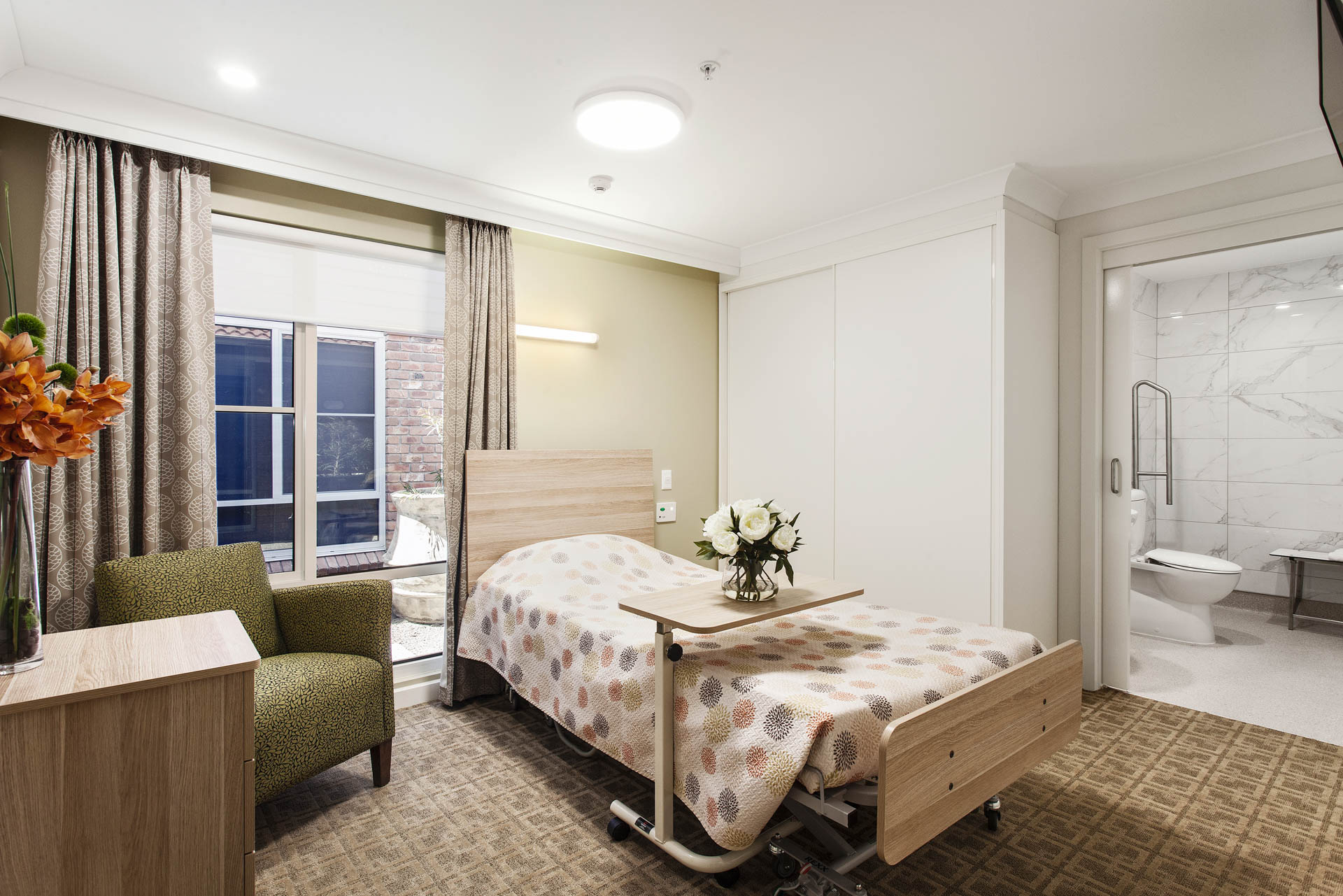 Bedroom at Abberfield Aged Care