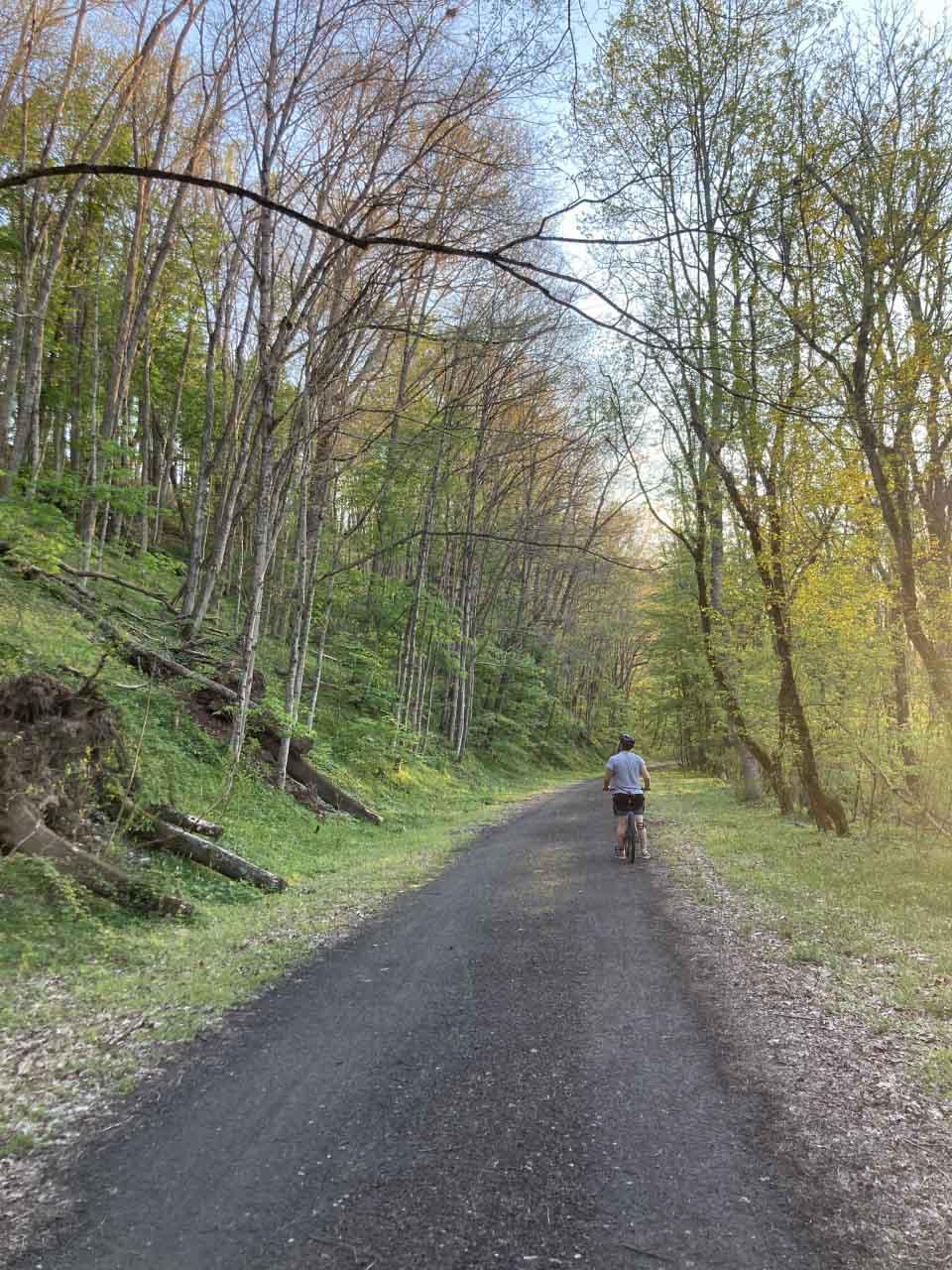 biking on the NRV trail