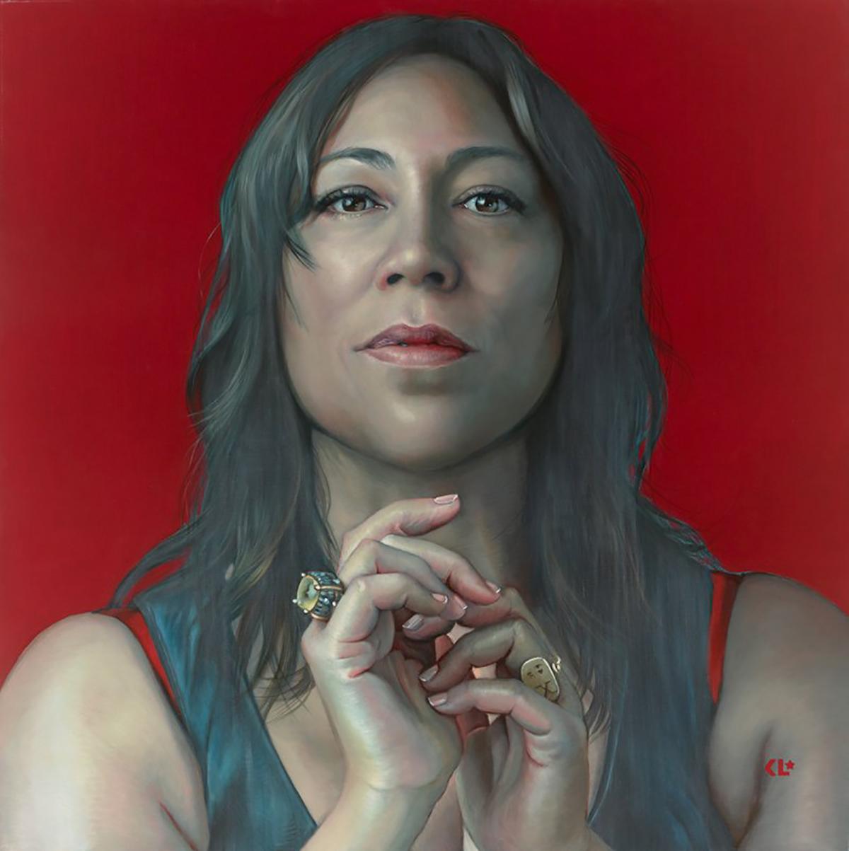 The 2021 Packing Room Prize winning portrait of Kate Ceberano by artist Kathrin Longhurst.