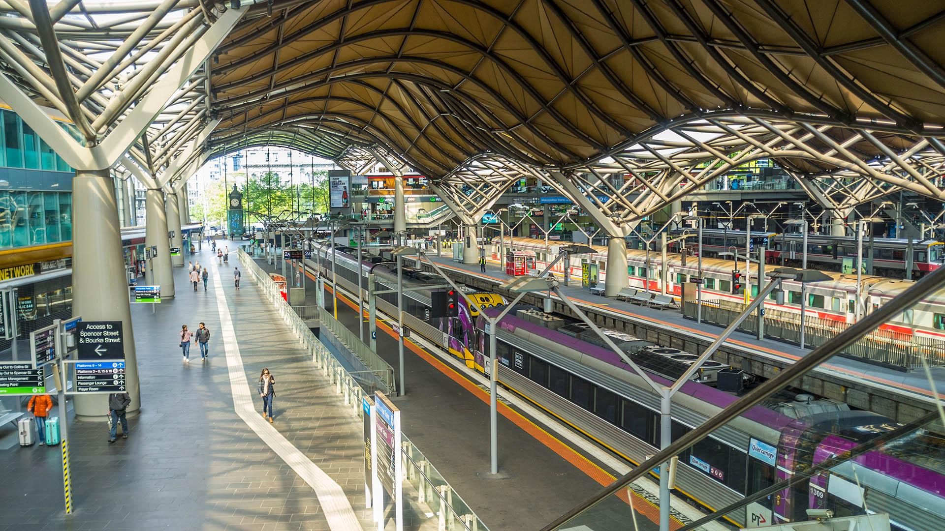 Southern Cross Station, Melbourne.