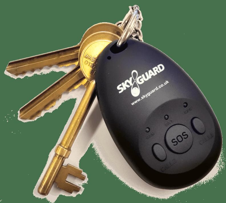 Skyguard alarm fob on keyring