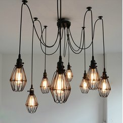 Multiple hanging bulbs in a random formation
