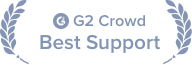 Awarded Best Support by G2 Crowd