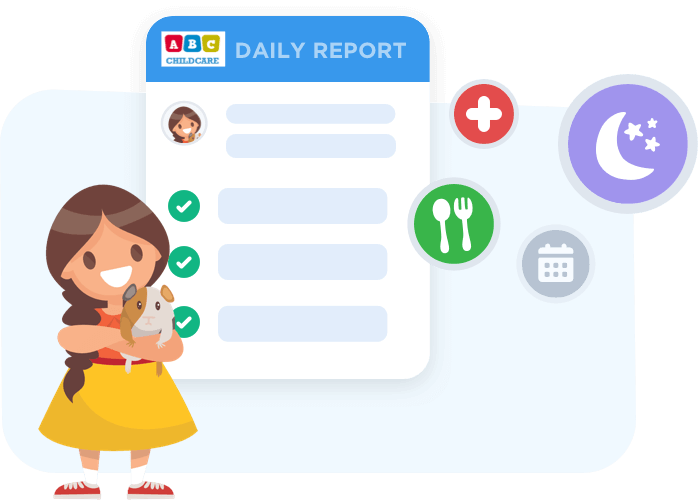 Parents can access daycare daily reports in app