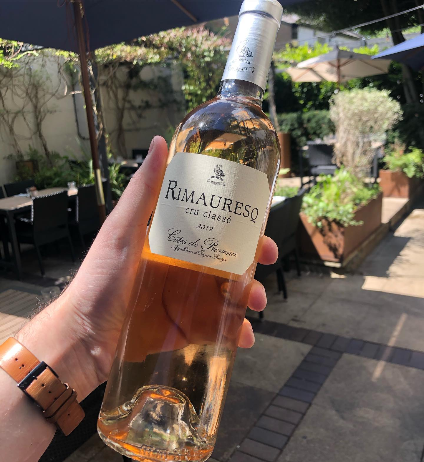 It's 100% the day for this. Cotes de Provence, cru classe, 2019.