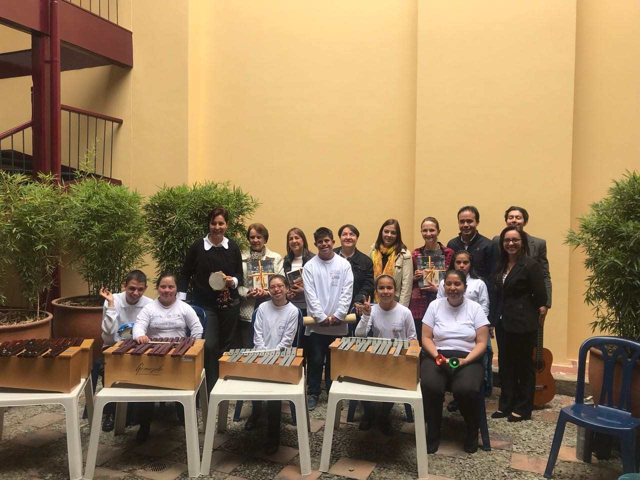 Specially adapted musical instruments for 600 children with special needs.