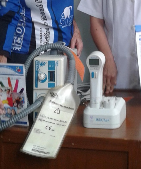 Bilirubinometer and Biliblanket for premature babies.