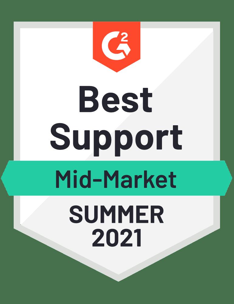 Best Support Mid Market Summer 2021