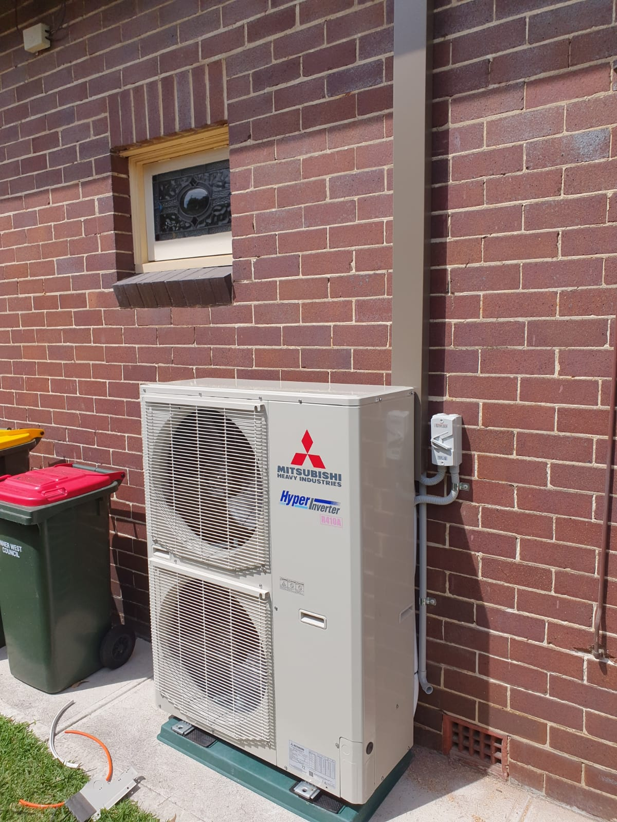 A ducted air conditioning system
