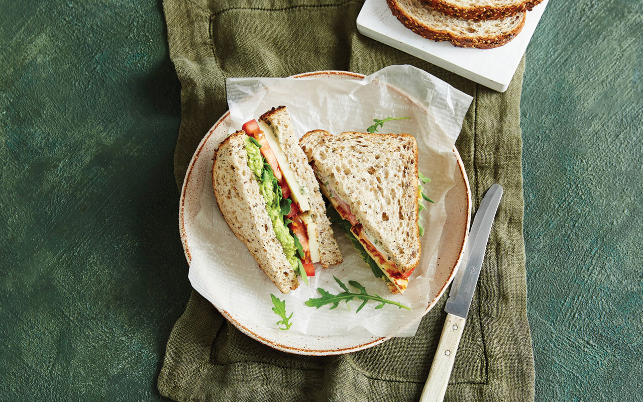 Herby Haloumi and Avocado Sandwiches