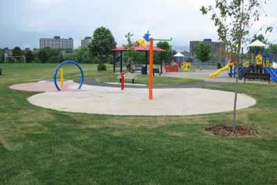 children's playground in celebration park in ottawa