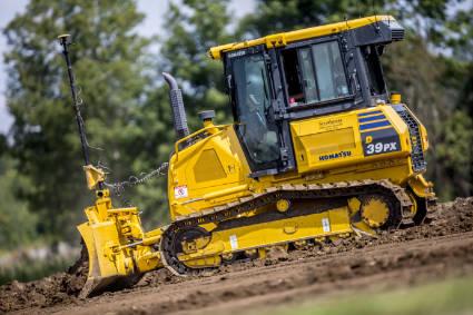 bulldozer moving soil