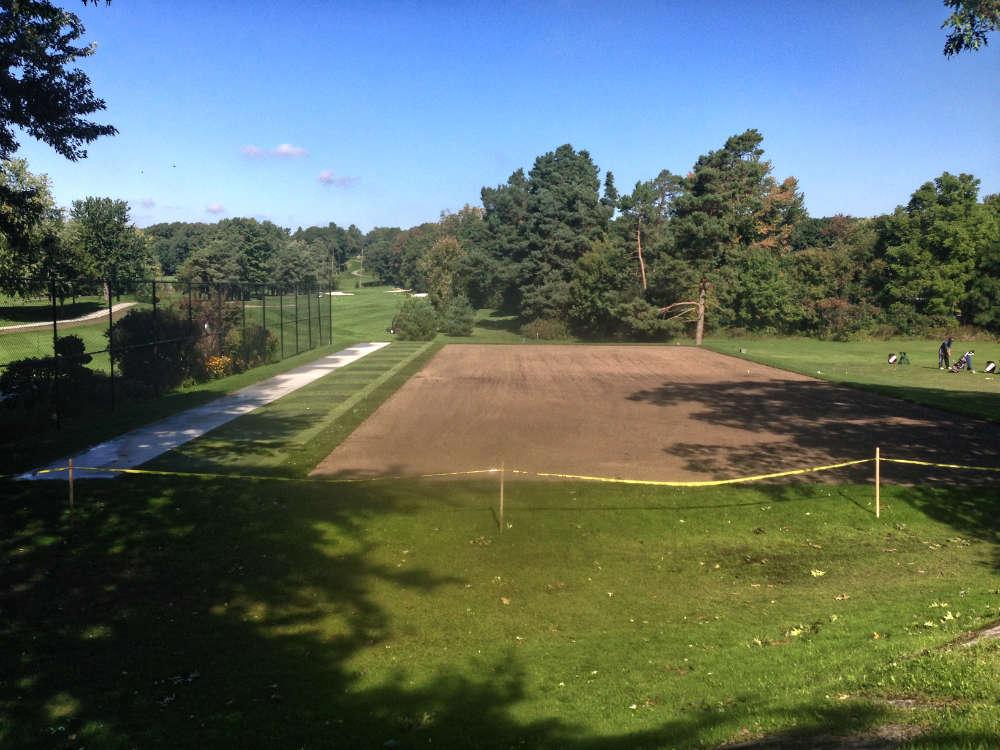 golf course turf tee deck in brockville ontario
