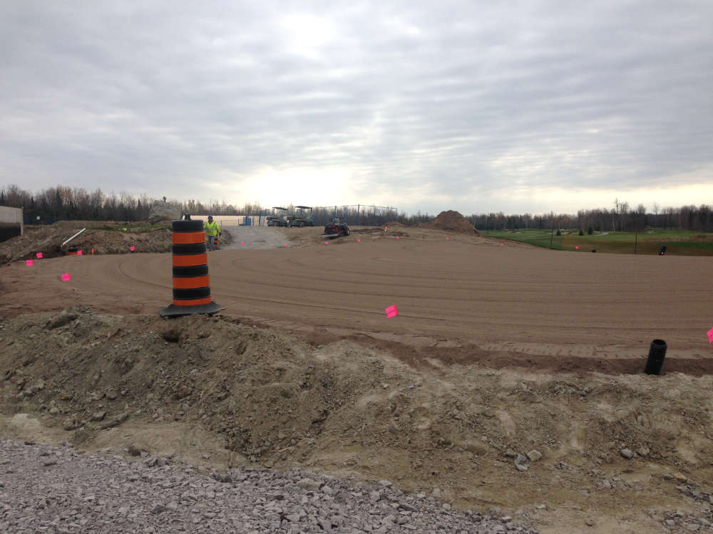 golf course greens under construction
