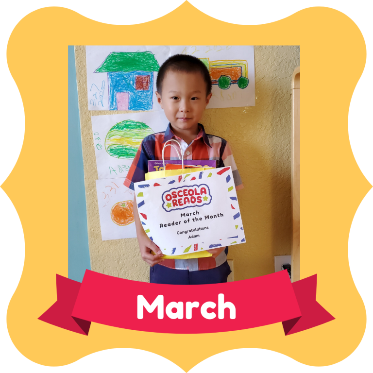 March Osceola Reads Reader of the Month