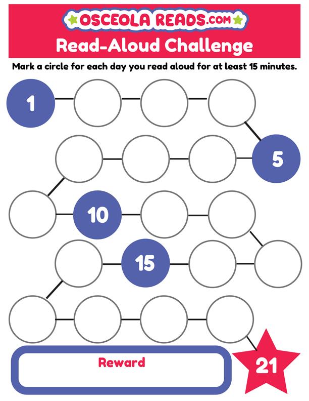 Osceola Reads read-aloud challenge tracker