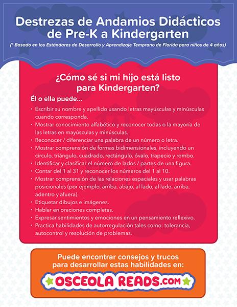 kindergarten checklist en español thumbnail