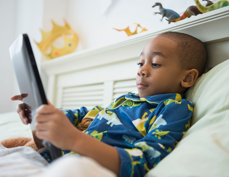 Child viewing Osceola Reads YouTube videos