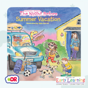 Book cover of The Night Before Summer Vacation by Natasha Wing
