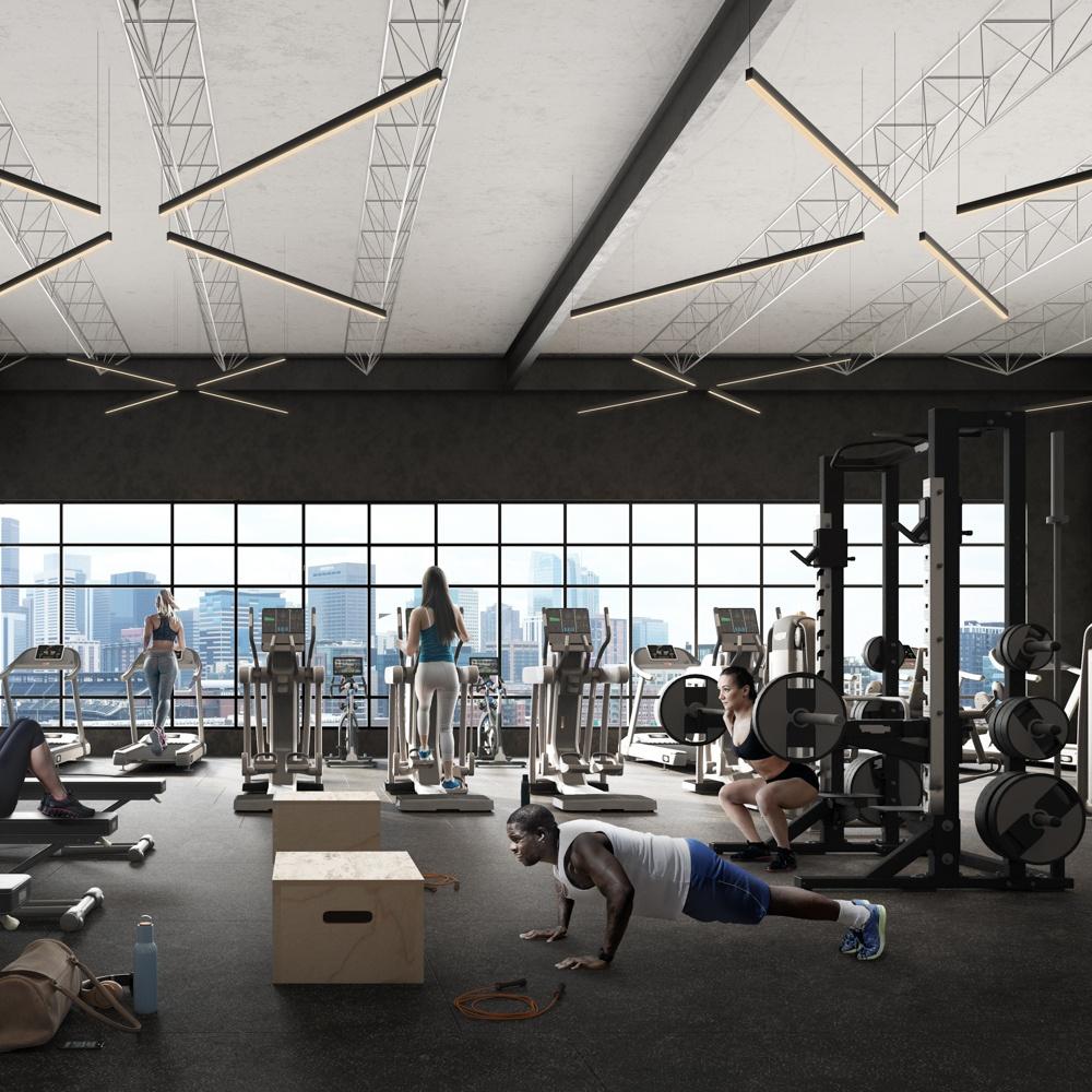 X Club Gym with man doing push ups