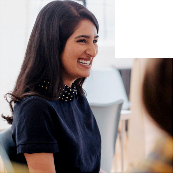 Cropped Image of woman in meeting
