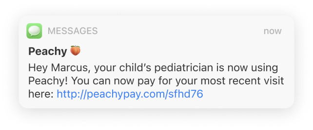 Physician Joined Peachy Notification