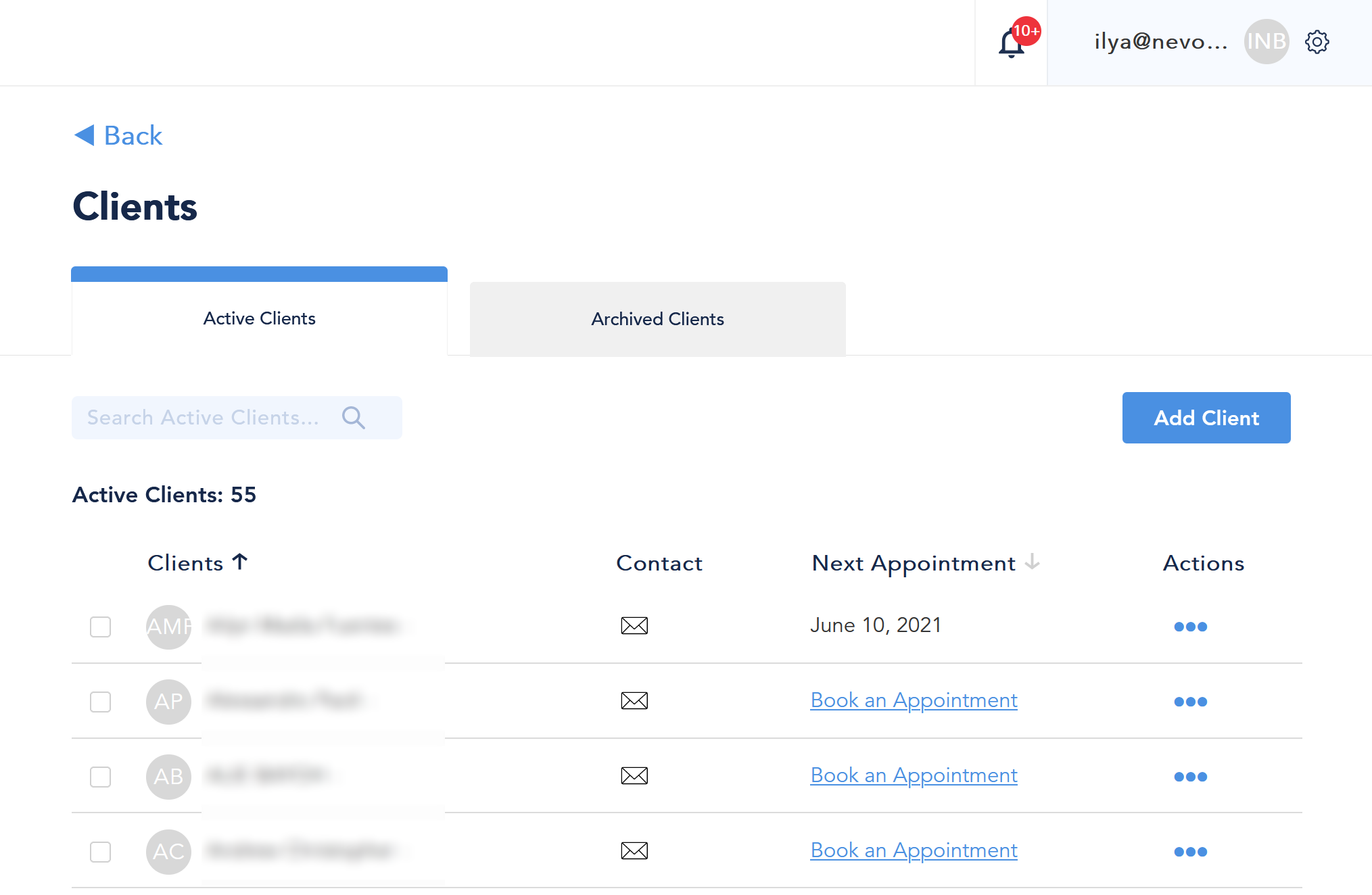 appointment scheduling api clients