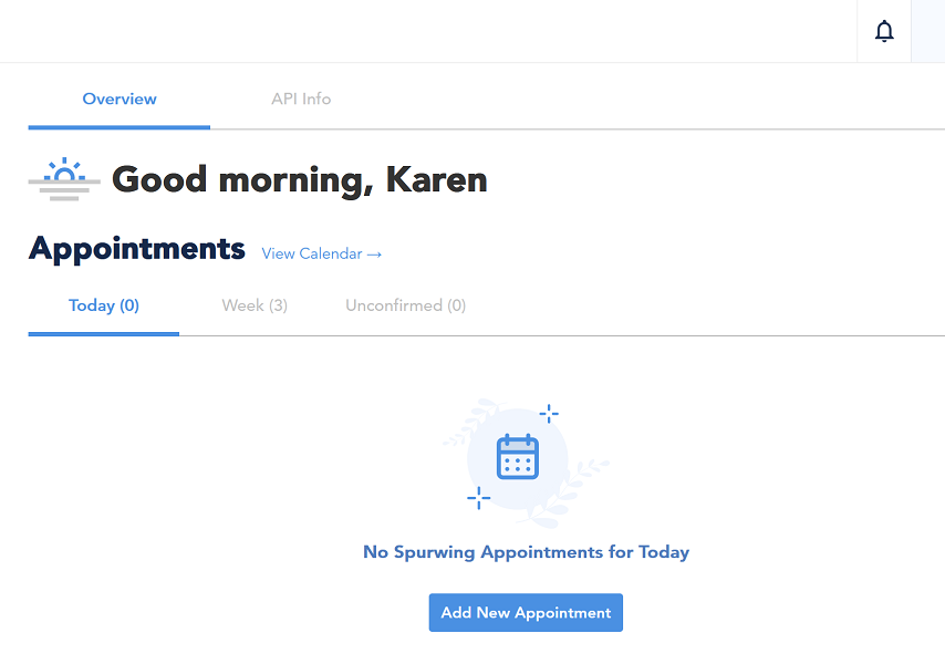 appointment scheduling api dashboard