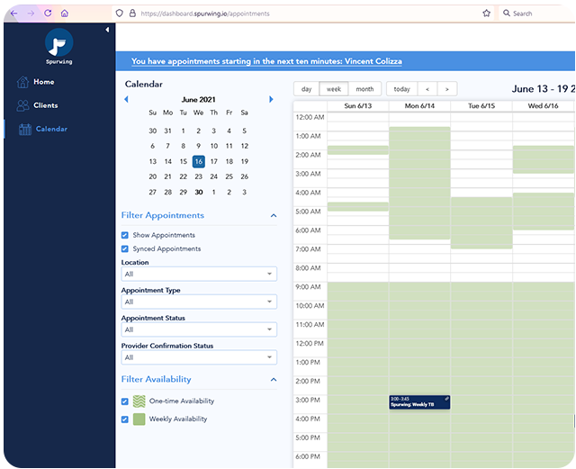 scheduling api for resource management