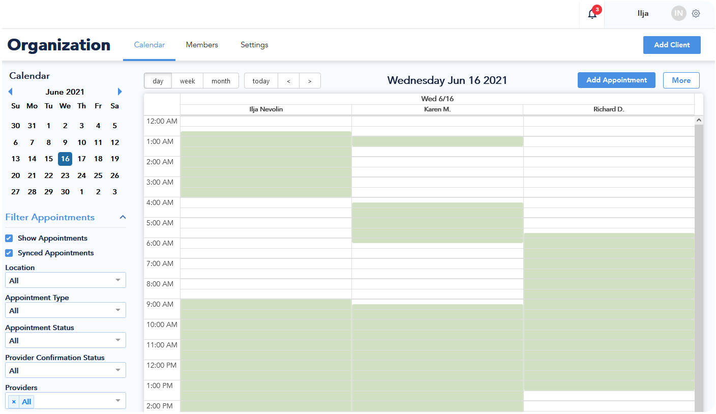 enterprise scheduling api for corporate