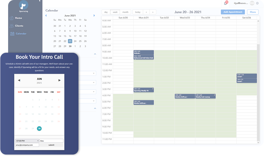 scheduling api for appointments