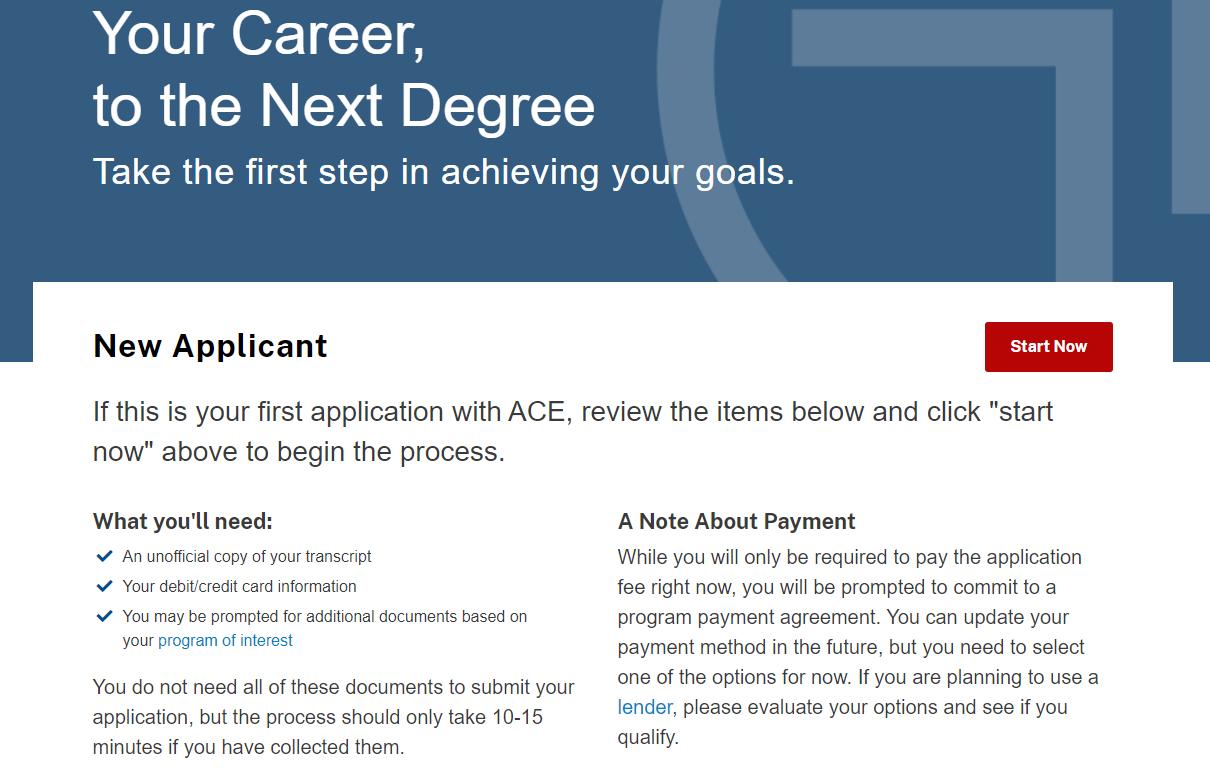 ACE Aplication screenshot