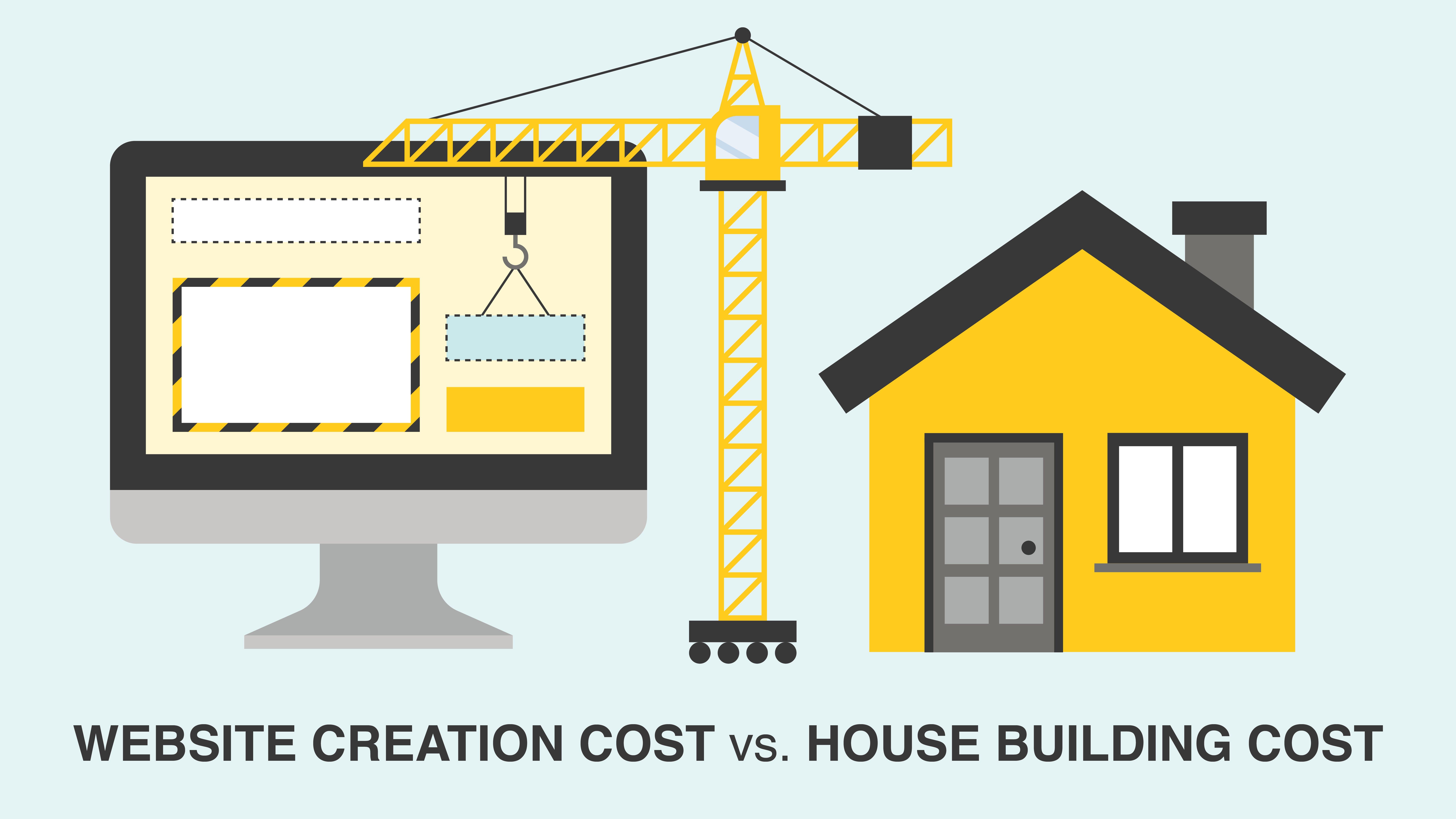 website cost versus cost of house