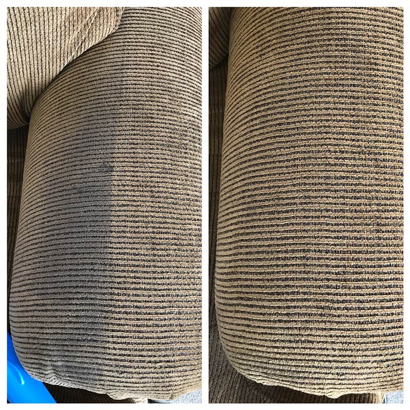 Before and after upholstery cleaning, Medford